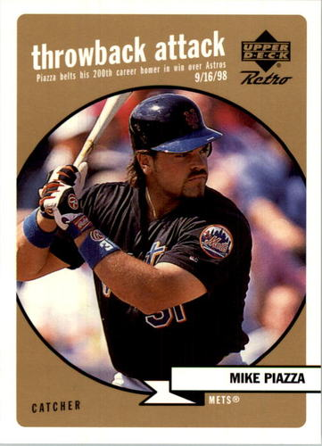 Photo of 1999 Upper Deck Retro Throwback Attack Level 2 #T8 Mike Piazza