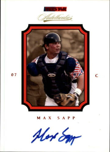 Photo of 2007 TRISTAR Autothentics Autographs Red #18 Max Sapp