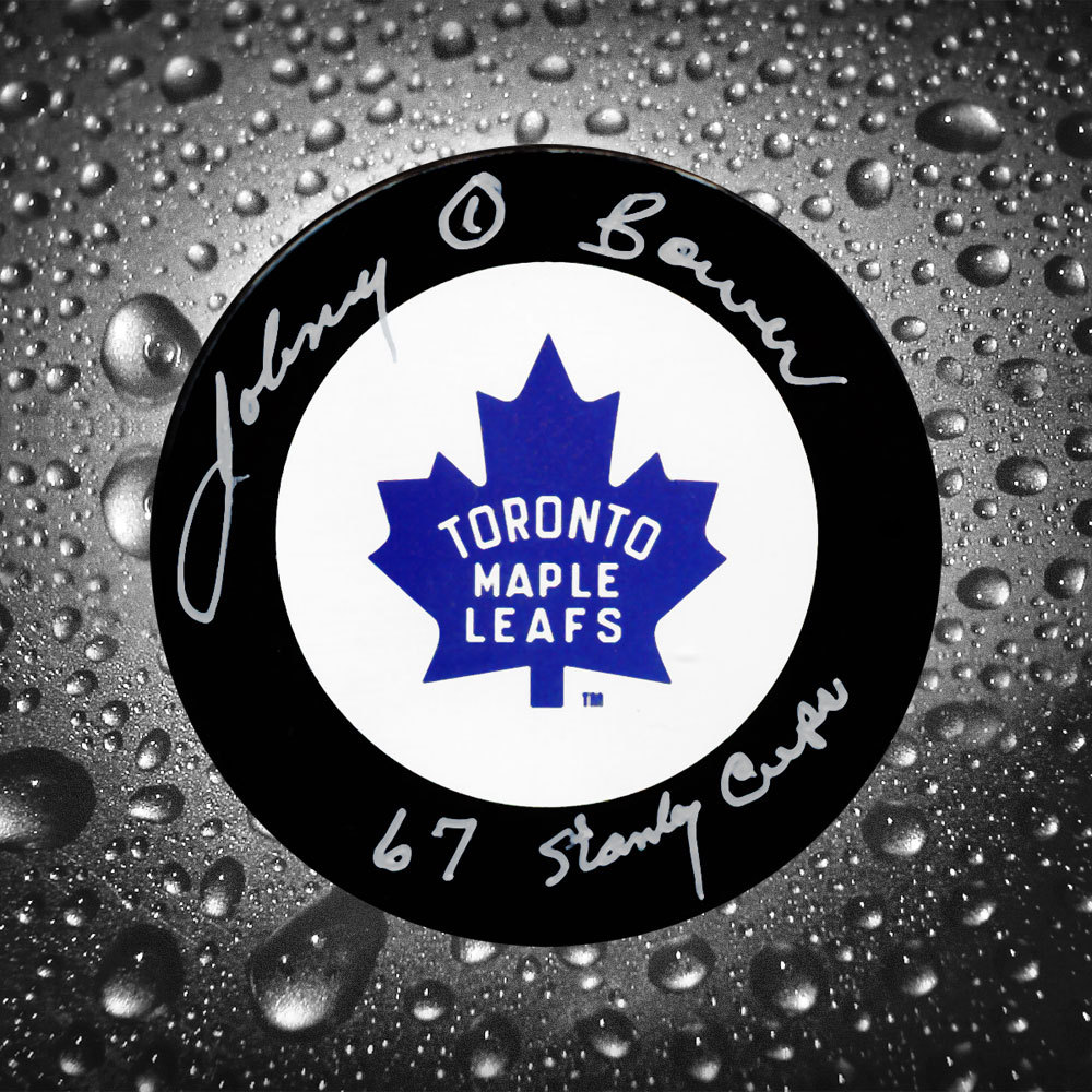 Johnny Bower Toronto Maple Leafs 67 Stanley Cup Autographed Puck