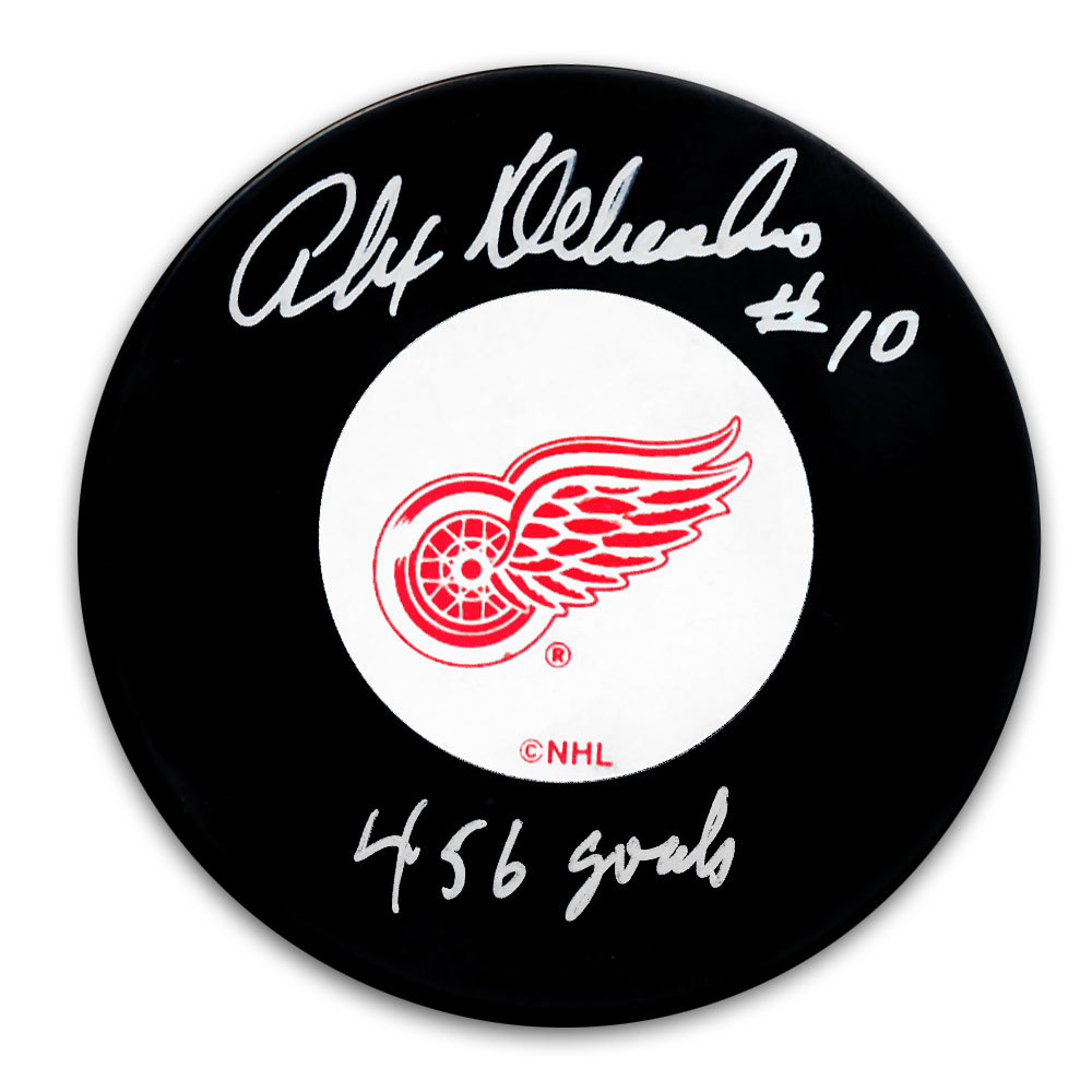 Alex Delvecchio Detroit Red Wings 456 Goals Autographed Puck