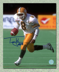 Tracy Ham Edmonton Eskimos Autographed CFL Football 8x10 Photo