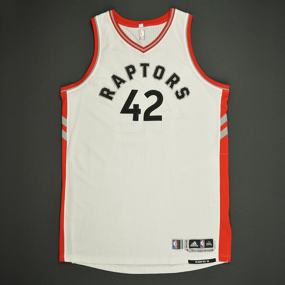 Jakob Poeltl - Toronto Raptors - Game-Worn Rookie Debut Jersey - 2016-17 Season