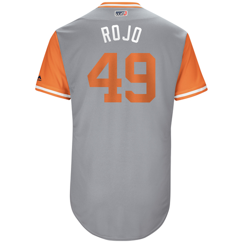 "Photo of Sam ""Rojo"" Dyson San Francisco Giants Game-Used Players Weekend Jersey"