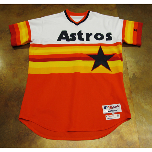 Photo of Javier Bracamonte Astros Game-Used TBTC 1977 Jersey/Pants 6/24/17 Size 46