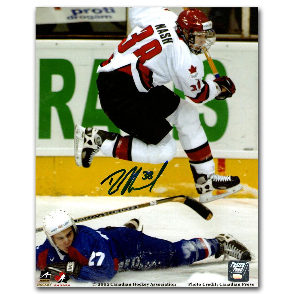 Rick Nash Autographed 2002 World Junior Championship 8X10 Photo (New York Rangers)