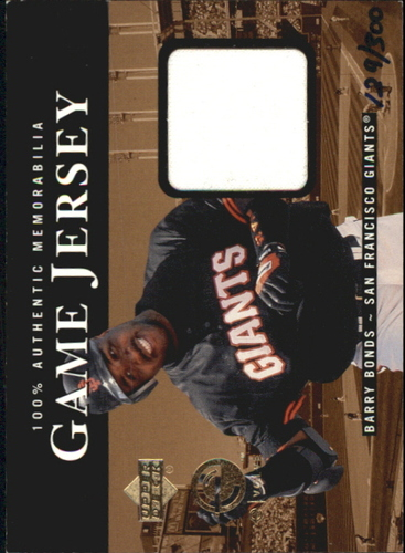 Photo of 2000 Upper Deck eVolve Game Jersey #EJ5 Barry Bonds