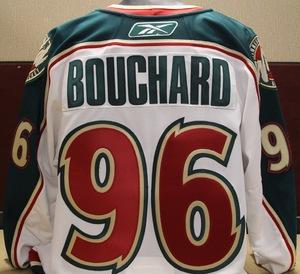 2009-10 Bouchard Game Worn White Jersey