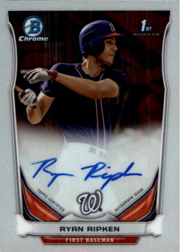Photo of 2014 Bowman Chrome Draft Draft Pick Autographs #BCARR Ryan Ripken