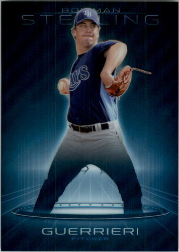 Photo of 2013 Bowman Sterling Prospects Blue Refractors #5 Taylor Guerrieri
