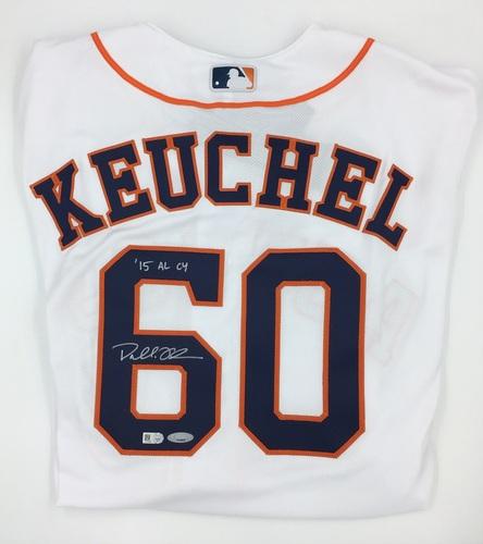 "Photo of Dallas Keuchel Autographed ""15 AL CY"" Authentic Astros Jersey"
