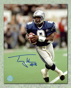 Tracy Ham Baltimore Stallions Autographed CFL Football 8x10 Photo