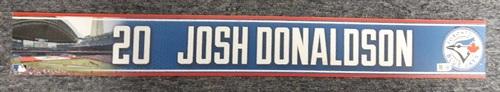 Photo of Authenticated Game Used 2015 Locker Nameplate - #20 Josh Donaldson (MVP Season)