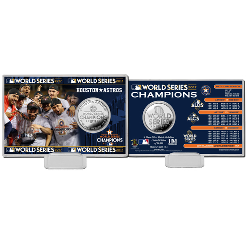 "Photo of Houston Astros 2017 World Series Champions ""Celebration"" Silver Coin Card"