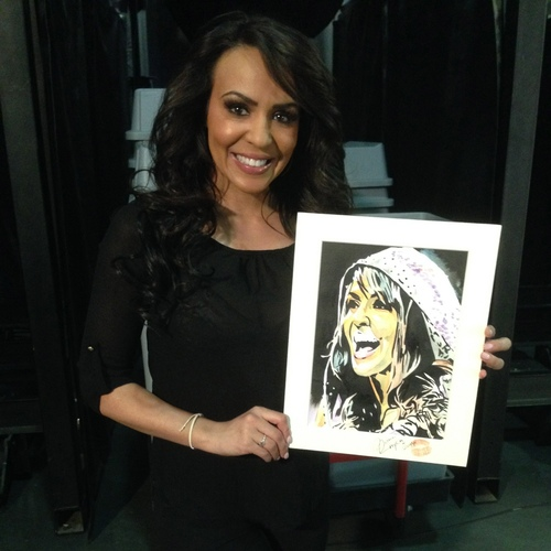 Layla Signed Painting by Rob Schamberger