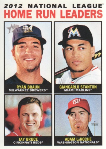 Photo of 2013 Topps Heritage #9 Ryan Braun/Giancarlo Stanton/Jay Bruce/Adam LaRoche
