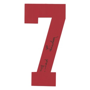 Ted Lindsay Autographed Detroit Red Wings Twill Jersey Number