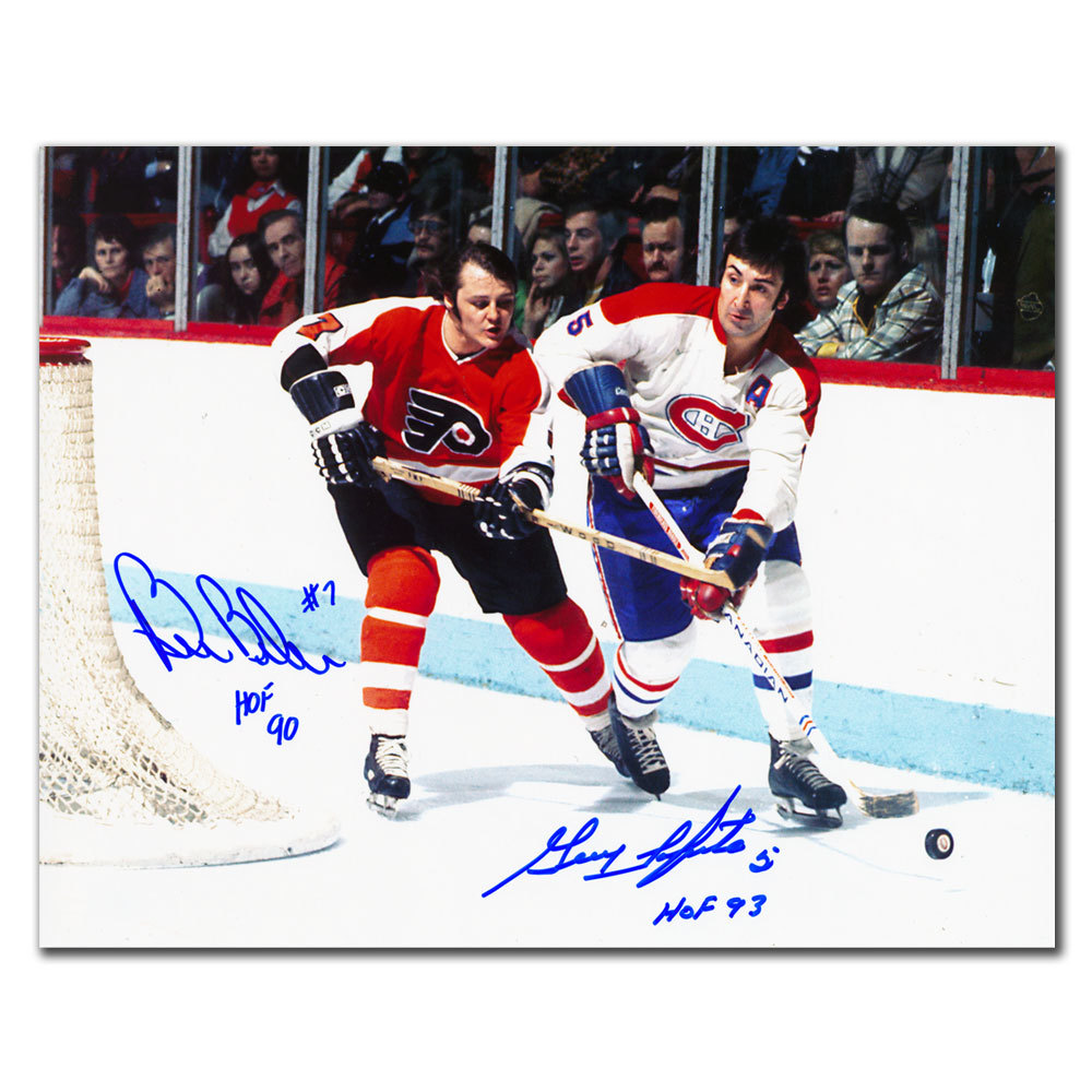 Bill Barber vs. Guy Lapointe HOF Dual Autographed 8x10