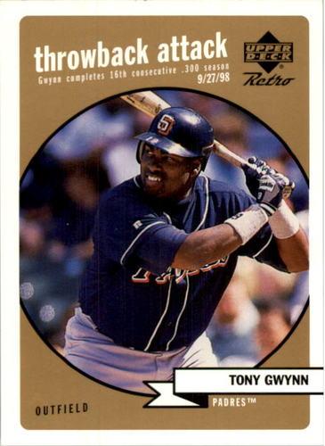 Photo of 1999 Upper Deck Retro Throwback Attack Level 2 #T15 Tony Gwynn