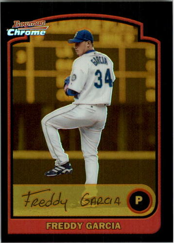 Photo of 2003 Bowman Chrome Gold Refractors #49 Freddy Garcia