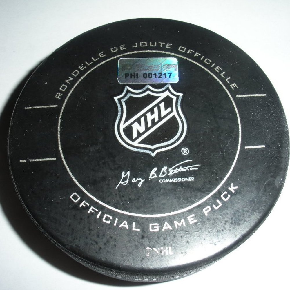 Marian Gaborik - New York Rangers - Goal Puck - February 11, 2012 (Flyers Logo)