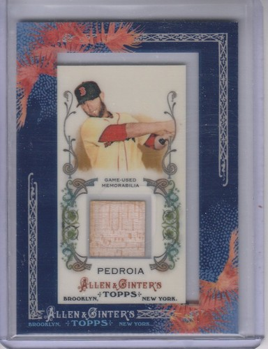 Photo of 2011 Topps Allen and Ginter Relics Dustin Pedroia -- Red Sox post-season