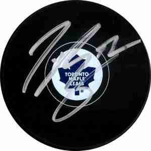 Tyler Bozak - Signed Toronto Maple Leafs Logo Puck