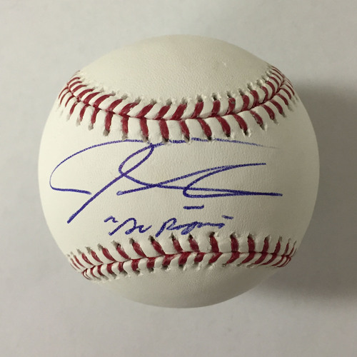 "Photo of Josh Hamilton Autographed ""Go Rangers"" Baseball"