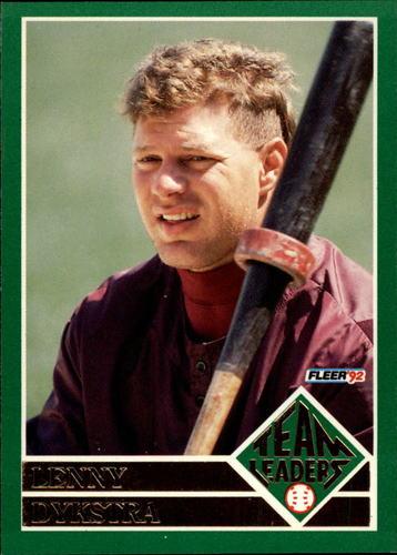 Photo of 1992 Fleer Team Leaders #10 Len Dykstra