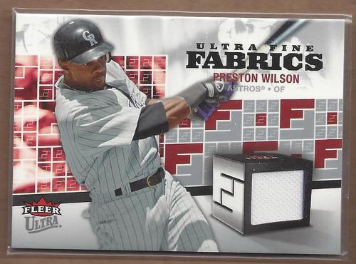 Photo of 2006 Ultra Fine Fabrics #PW Preston Wilson Jsy