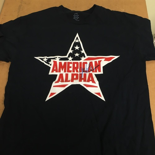Photo of Chad Gable WORN & SIGNED American Alpha T-Shirt