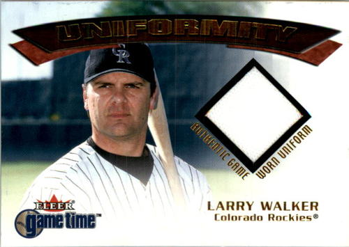 Photo of 2001 Fleer Game Time Uniformity #21 Larry Walker