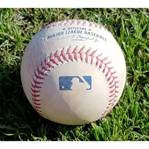 Photo of 2017 Game-Used Baseball - Edubray Ramos Strikeout (April 8)