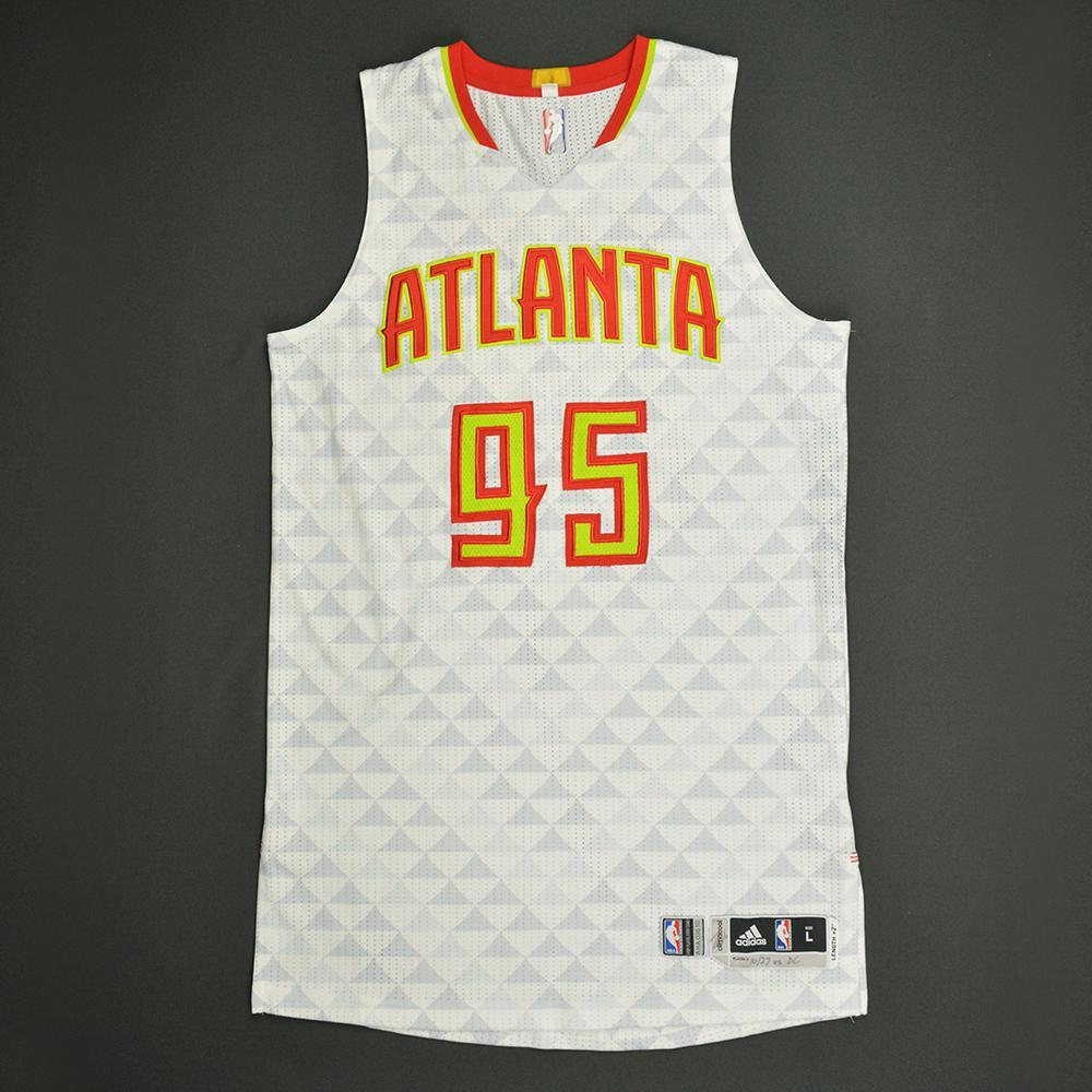 DeAndre' Bembry - Atlanta Hawks - Game-Worn Rookie Debut Jersey - 2016-17 Season