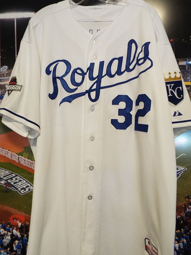 Photo of Club Issued Chris Young White 2015 Postseason Jersey
