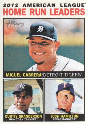 Photo of 2013 Topps Heritage #10 Miguel Cabrera/Curtis Granderson/Josh Hamilton