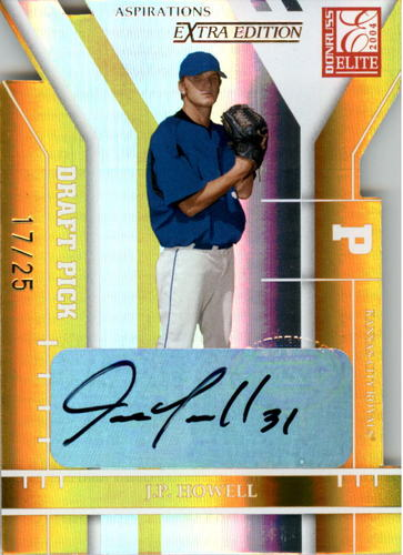 Photo of 2004 Donruss Elite Extra Edition Signature Aspirations Gold #311 J.P. Howell DP/25