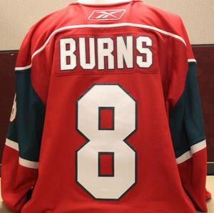 2009-10 Burns Game Worn Red Jersey