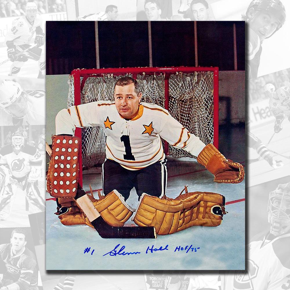 Glenn Hall NHL All Star HOF Autographed 8x10 - 2016 NHL All-Star