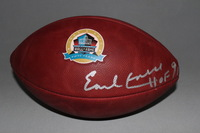 HOF - OILERS EARL CAMPBELL SIGNED AUTHENTIC FOOTBALL W/ 50 YEAR ANNIVERSARY LOGO