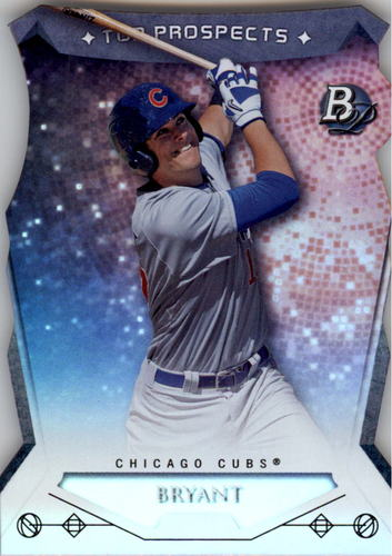 Photo of 2014 Bowman Platinum Top Prospects Die Cuts #TPKB Kris Bryant