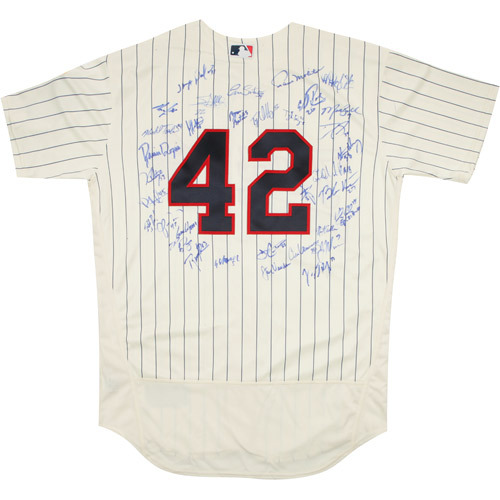 Photo of 2017 Jackie Robinson Day Jersey - Minnesota Twins Team Autographed Jersey