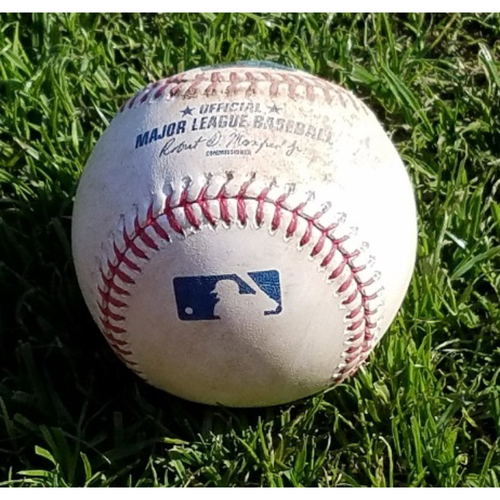 Photo of 2017 Game-Used Baseball - 12-run inning (April 8)