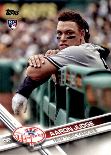 Photo of 2017 Topps #287C Aaron Judge UPD SP/arms over railing