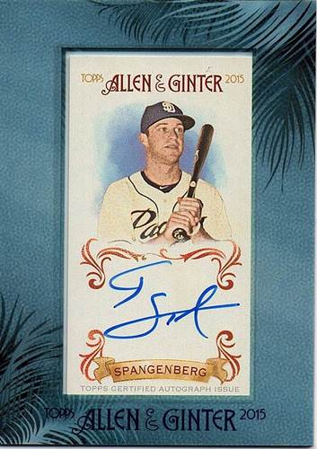 Photo of 2015 Topps Allen and Ginter Framed Mini Autographs #AGACSP Cory Spangenberg