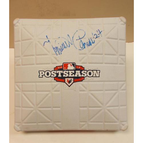 Photo of Autographed Miguel Cabrera 2012 PostSeason Base