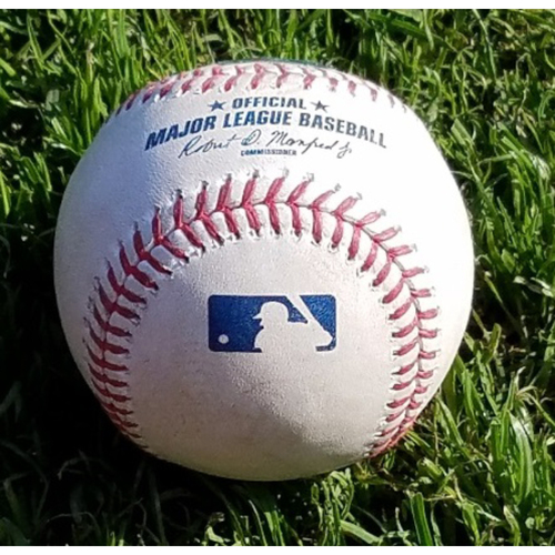 Photo of 2017 Game-Used Baseball - Jerad Eickhoff Strikeout of Jose Reyes (April 10)