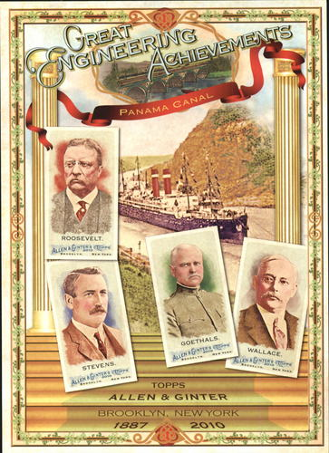 Photo of 2010 Topps Allen and Ginter Cabinets #NCCB5 President Theodore Roosevelt/John Frank Stevens/George W