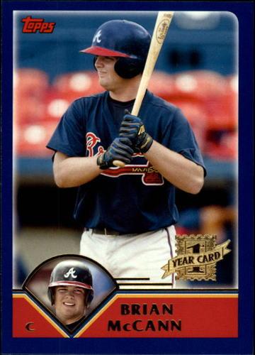 Photo of 2003 Topps Chrome Traded #T209 Brian McCann Rookie Card -- Astros post-season
