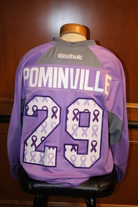 2014-15 Signed Pominville Hockey Fights Cancer Jersey