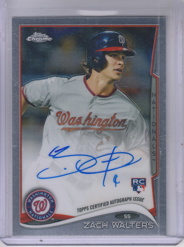 Photo of 2014 Topps Chrome Rookie Autographs #62 Zach Walters